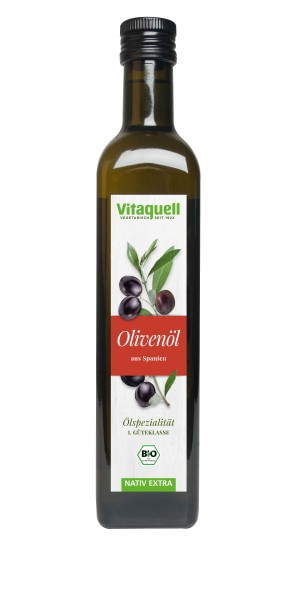 Vitaquell Olivenöl Spanien Bio nativ-extra 500 ml