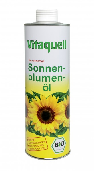 Sonnenblumen-Öl vitale Bio-Saat, kaltgepresst, 750 ml